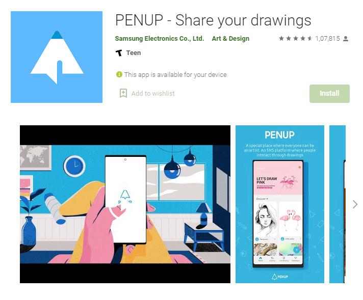 PENUP drawing app