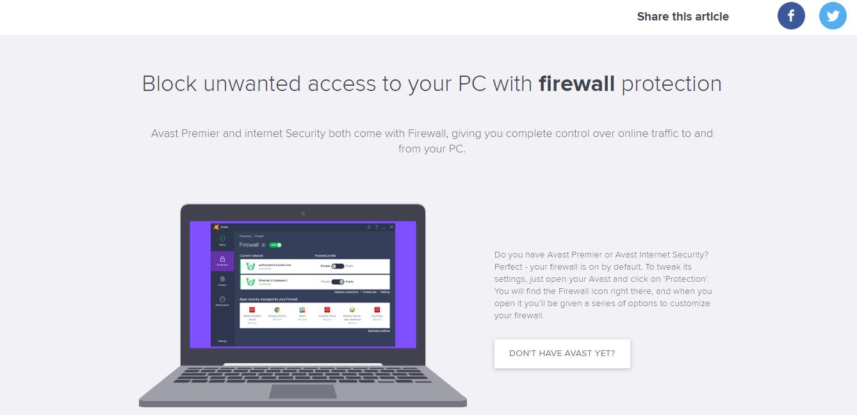 Avast Endpoint Firewall